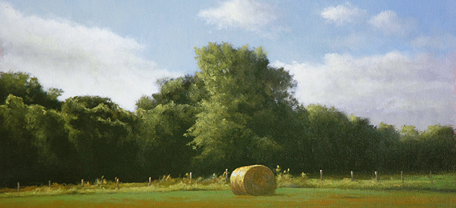 BB1813 - Lone Bale-Late Afternoon - 10x22